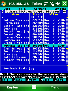 Session Screen with Built-in Bitmap Font