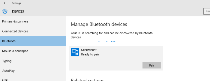 Bluetooth/RFCOMM communication example with Windows IoT – Choung