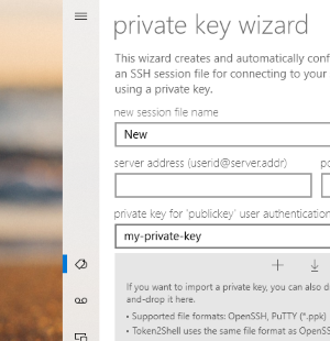 You can now drag-and-drop private keys for adding SSH address book